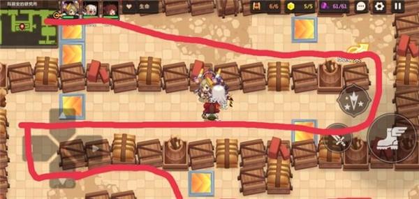 坎公骑冠剑2-2宝箱位置