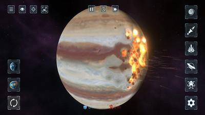 星战模拟器无广告完整版:一款游戏里面有很多星球的单击手游